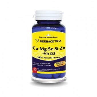 Ca+Mg+Se+Si+Zn cu Vit D3 Complex Forte